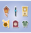 set of color icons with clock vector image