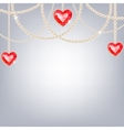 Background with pearl jewelry vector image