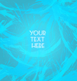 Abstract blue design with your text here big brush vector image