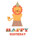 Birthday card with lion vector image
