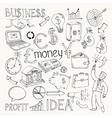 Business doodles hand doodle vector image