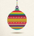 Christmas ornament bauble design in fun colors vector image