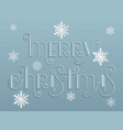 hand drawn lettering - merry christmas elegant vector image