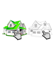house and wireframe vector image