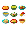 pictures of indian national cuisine vector image