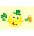 smile icon on Saint Patricks Day vector image