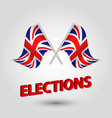 two crossed british flags vector image