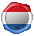 Wax seal with the Dutch flag vector image