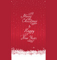 year happy winter holiday snow decor elements vector image