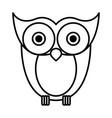 sketch silhouette image owl bird vector image