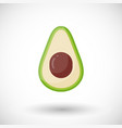 avocado flat icon vector image
