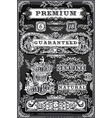 Vintage Hand Drawn Graphic Labels on Blackboard vector image vector image