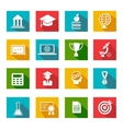 Internet education icons vector image vector image