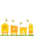 Bee houses spring collection vector image vector image