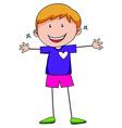 Happy boy vector image vector image