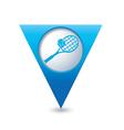 tennis BLUE triangular map pointer vector image vector image