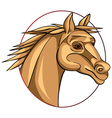 horse sign vector image