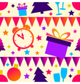 Bright Christmas seamless background vector image