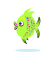 cartoon character mascot cute fish isolated on vector image