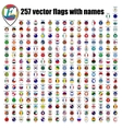flags of the world round icons vector image