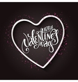 hand lettering valentines day greetings vector image