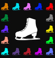Ice skate icon sign Lots of colorful symbols for vector image