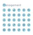 Round Management Icons vector image