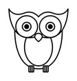 sketch silhouette image owl bird vector image