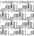 Urban city seamless pattern vector image