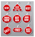 advertising and promotion badges vector image vector image