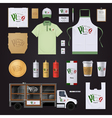 Pizza Corporate Identity Template Design Set vector image vector image