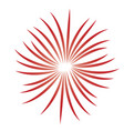 fireworks burst icon vector image