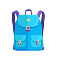 rucksack unisex in blue colors with big pockets
