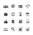 business and time icons vector image vector image