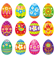 collection of eggs vector image vector image