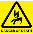 Danger of death sign vector image vector image