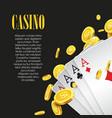 Casino Poker poster or banner background or flyer vector image vector image