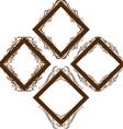 a set of decorative frames vector image