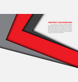 abstract red gray arrow overlap white vector image