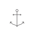 Anchor icon outline vector image