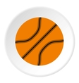 Basketball ball icon flat style vector image