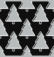 christmas tree seamless pattern in grey vector image