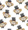 Cute monkey pattern vector image
