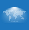 dotted blank white world map isolated on blue vector image