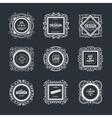 Monogram luxury logo template vector image