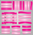 Pink ribbons and banners vector image