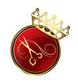 scissors and a crown for the hair and beauty salon vector image