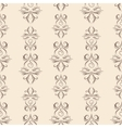 Thin line damask pattern vector image