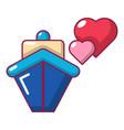 travel journey honeymoon trip icon cartoon style vector image