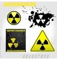 Warning radiation signs vector image